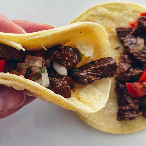 Street Tacos with Fresh Pico De Gallo
