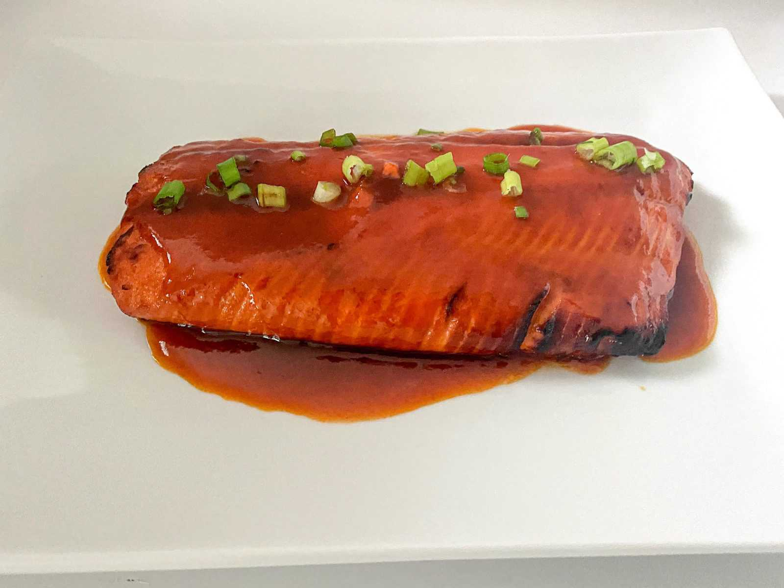 Finished Honey Sriracha Salmon