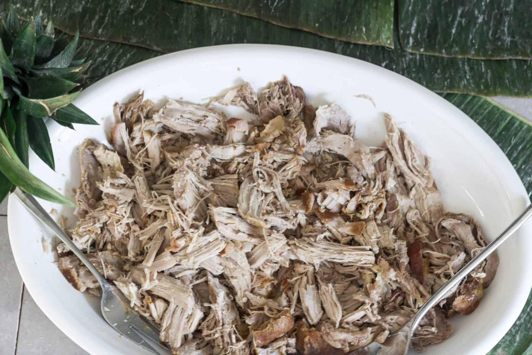 Shredded smoked kalua pork