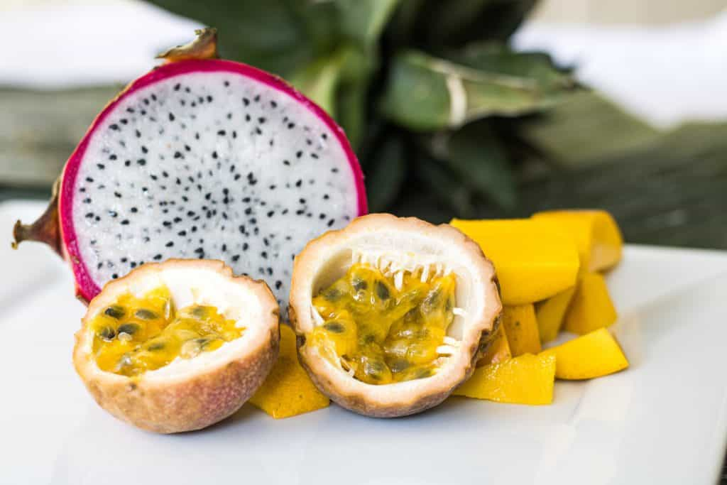 Dragonfruit Papaya and Mango
