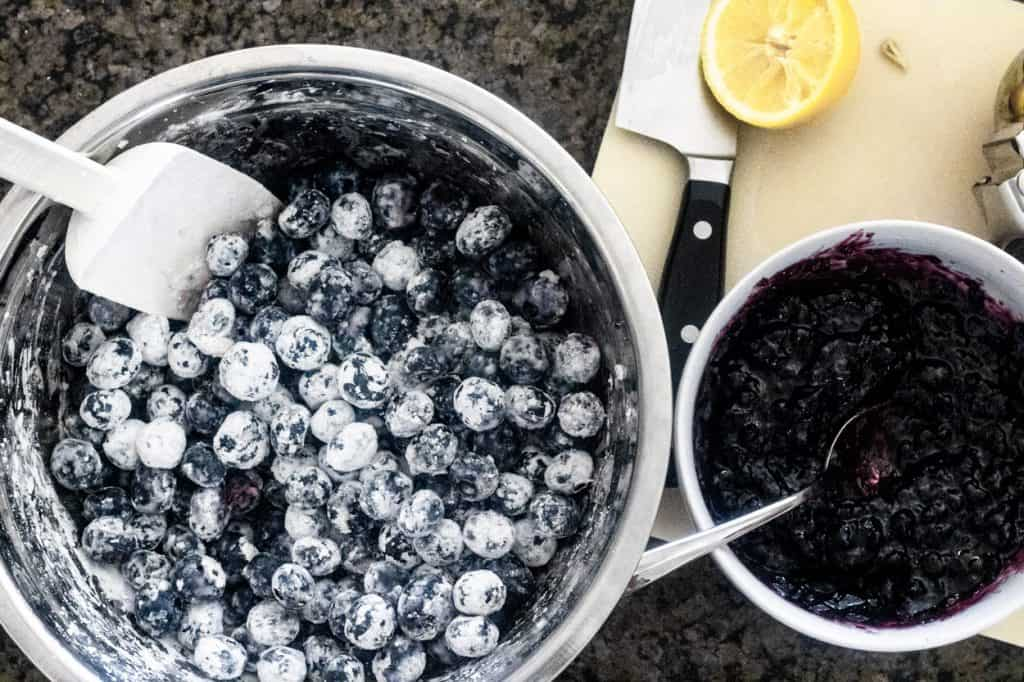 Blueberries and huckleberry preserves