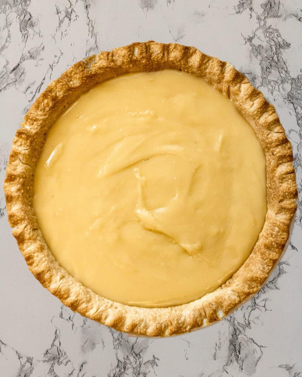 Custard filled pie
