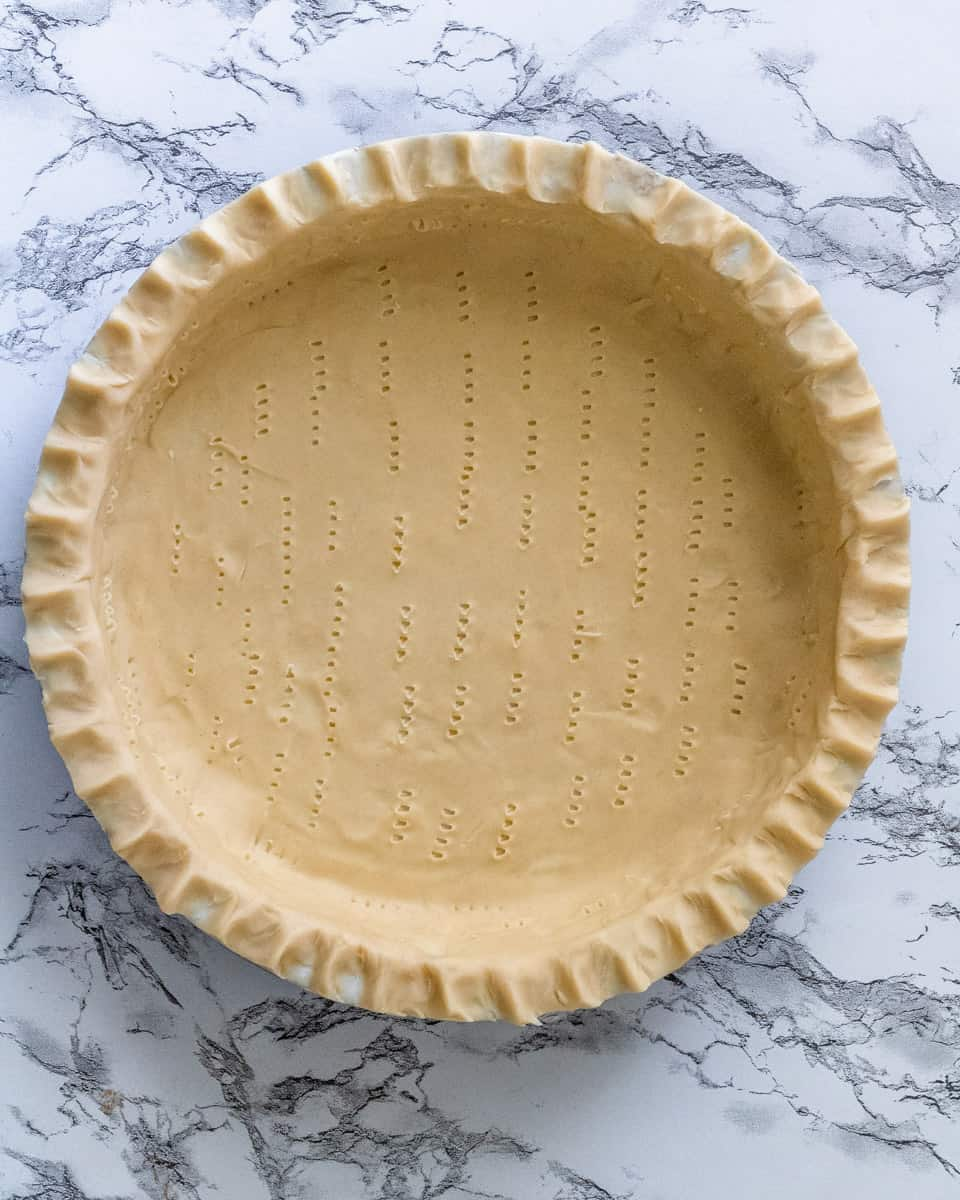 Empty Pie Crust Shell for Old Fashioned Sugar Cream Pie Recipe