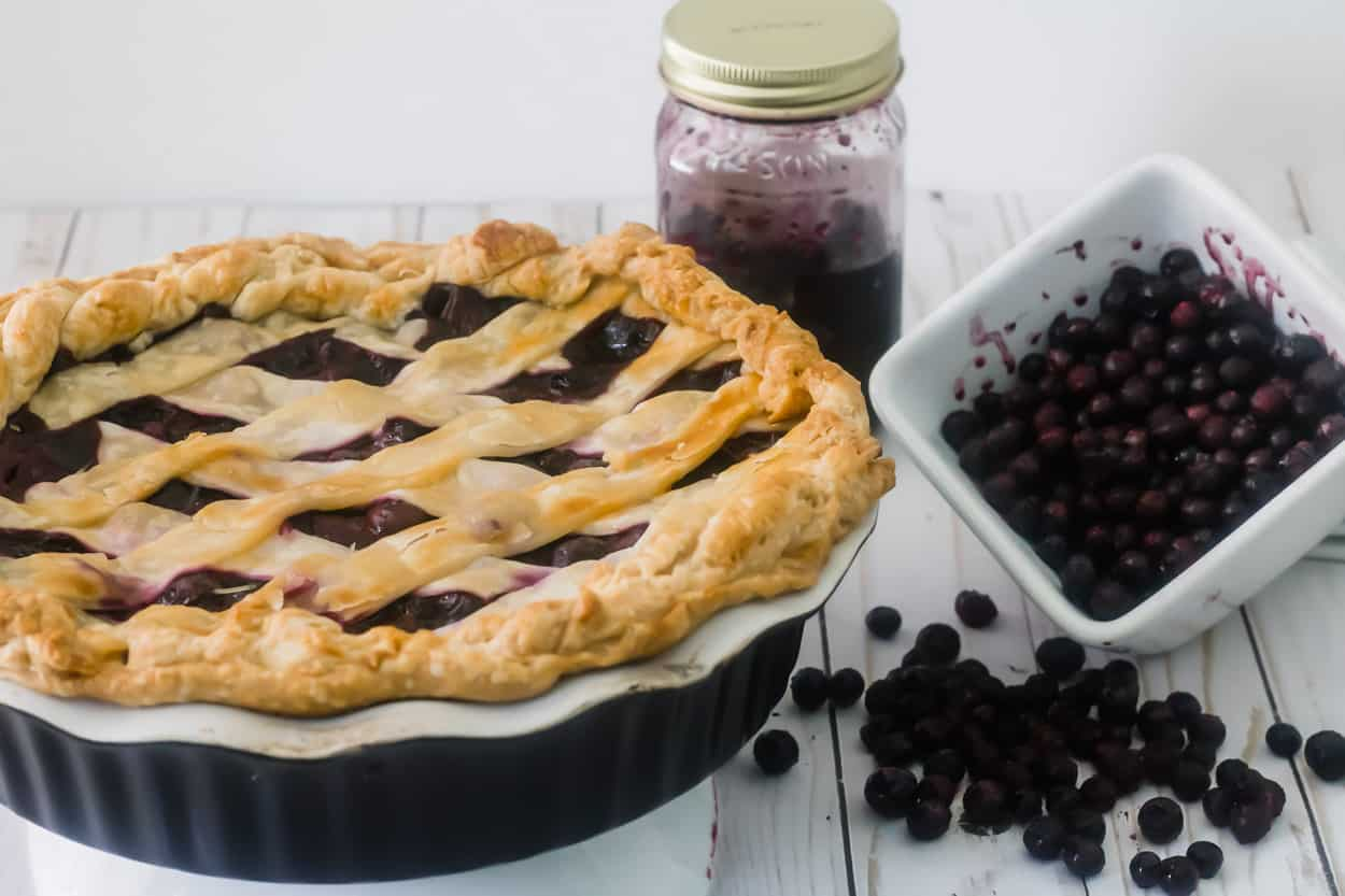 Pie with berries and jam