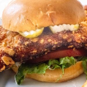 Hoosier Breaded Pork Tenderloin sandwich