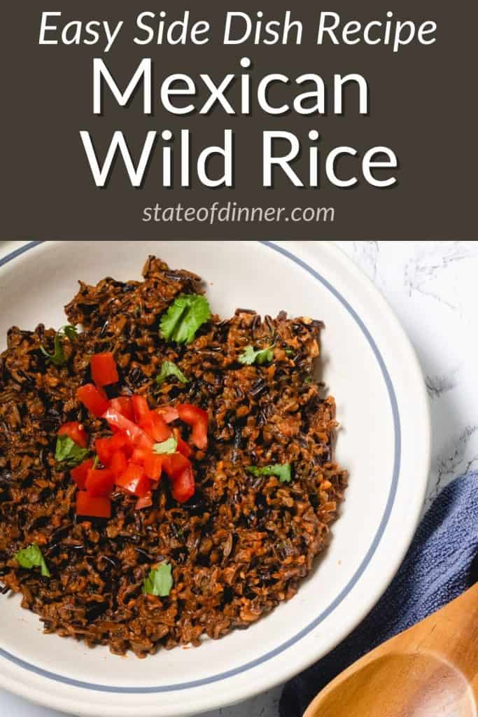 Pinterest Pin: Easy side dish recipe - Mexican Wild Rice