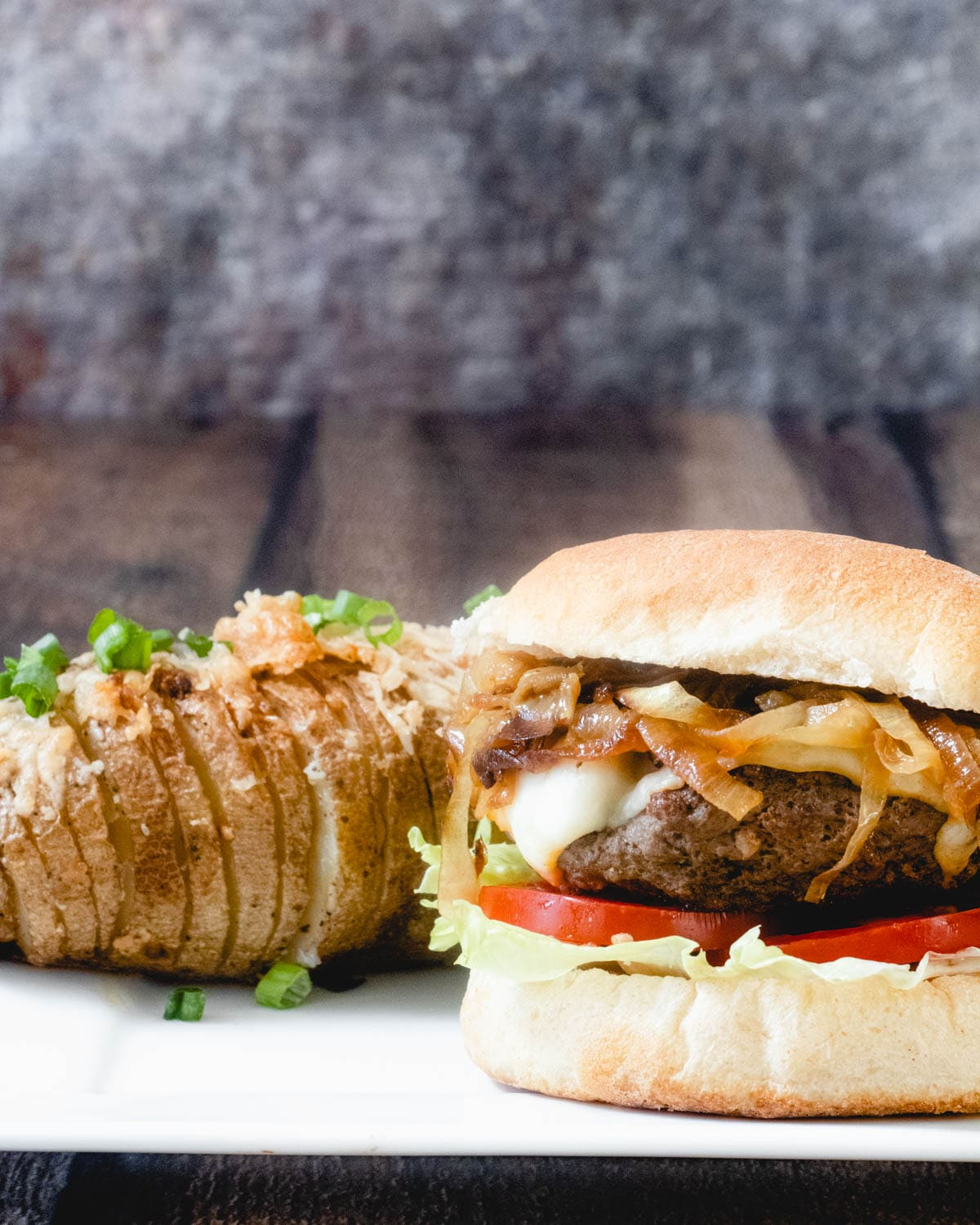 famous food from Montana includes elk burgers with hasselback potatoes.