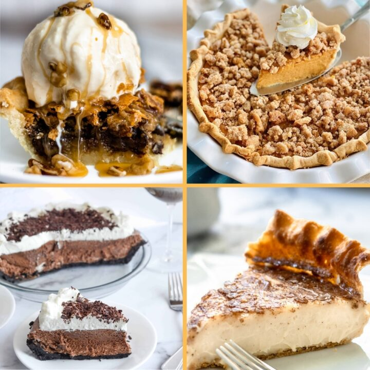 A collection of holiday pie recipes.