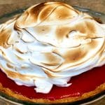 Lemon Cranberry Meringue Pie.