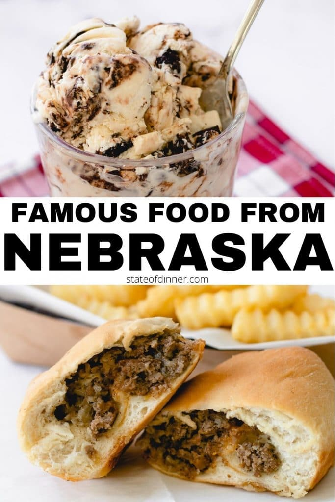 Pinterest Pin: Famous Food from Nebraska, Tin Roof Ice Cream and Runzas
