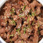 Bowl of beef bulgogi.